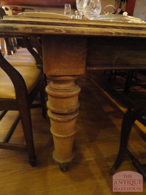 Antieke Eiken Engelse Tafel.Antieke Engelse Eiken Coulissentafel